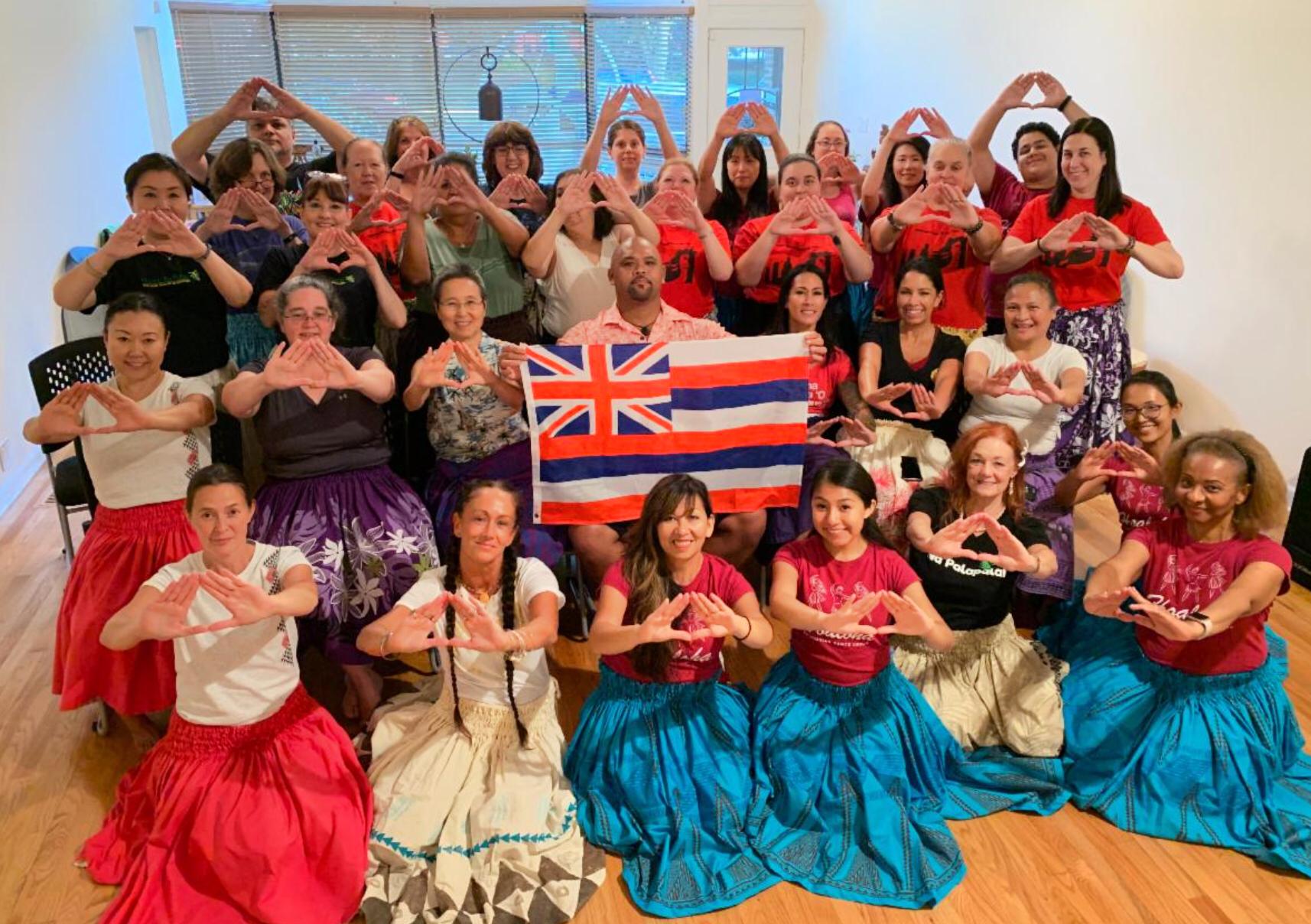 Kuana Torres Kahele Hula Workshop at Halau i Ka Pono/Zen Life & Meditation Center. Photo in Support of Mauna Kea and its Protectors.