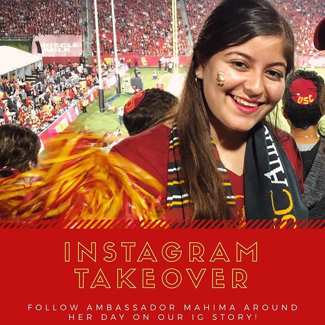 Ambassador Mahima will be taking over the IG story! Check out what she's up to today..during rivalry week 👀❤️💛