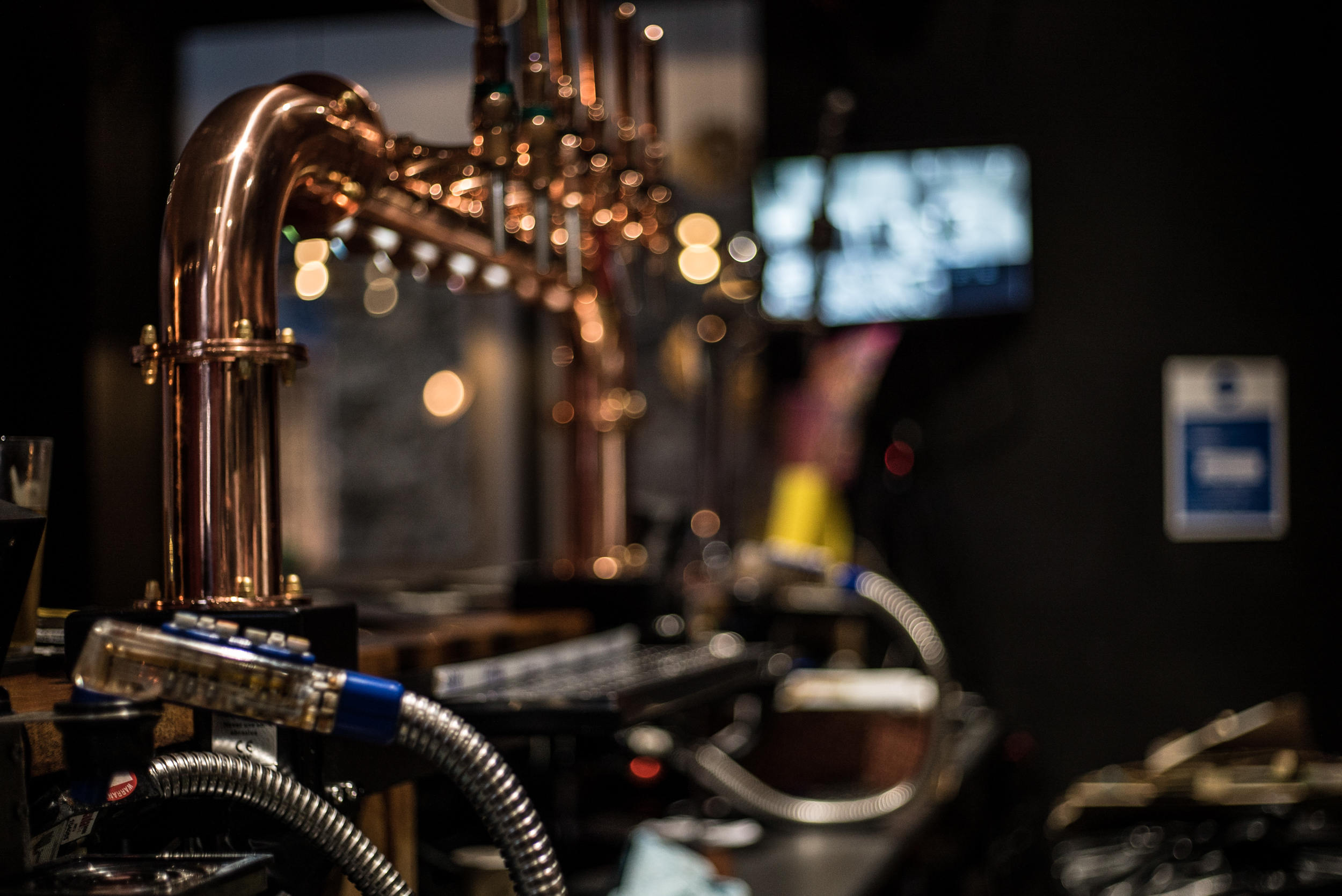 Bar with a steampunk feel at The Pit