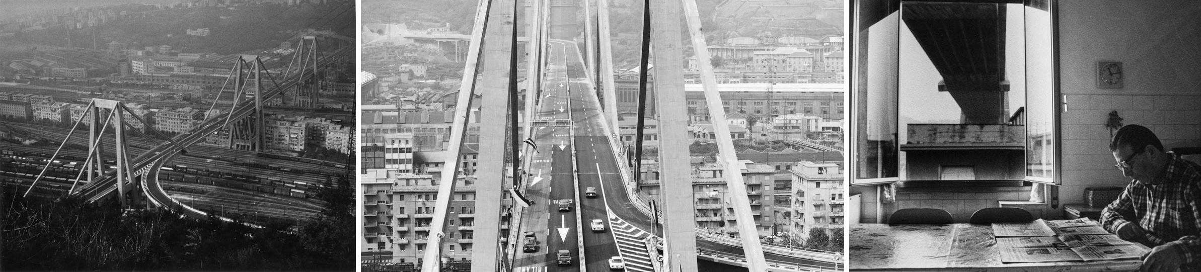 Immagini storiche del Ponte Morandi