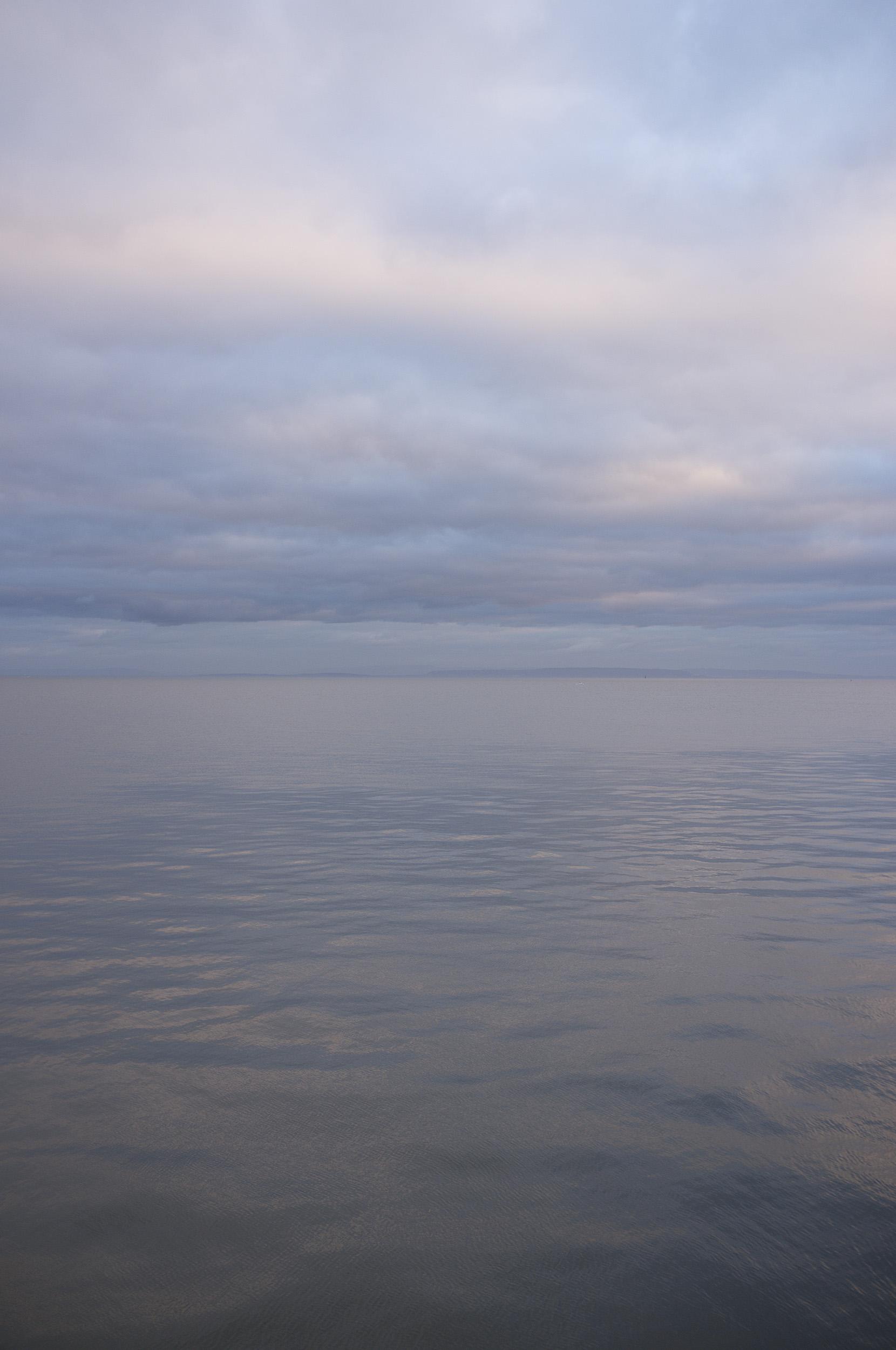 The sea, Cardiff, January 1st 2019