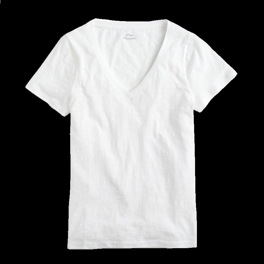JCREW Vintage Cotton V-neck T-shirt