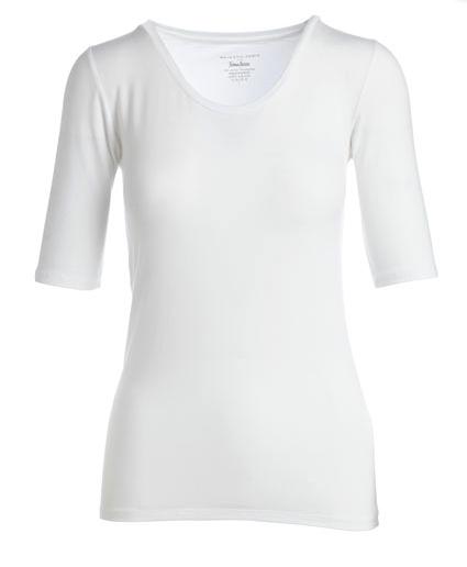 MAJESTIC PARIS FOR NEIMAN MARCUS Soft Touch Half-Sleeve Scoop-Neck Top
