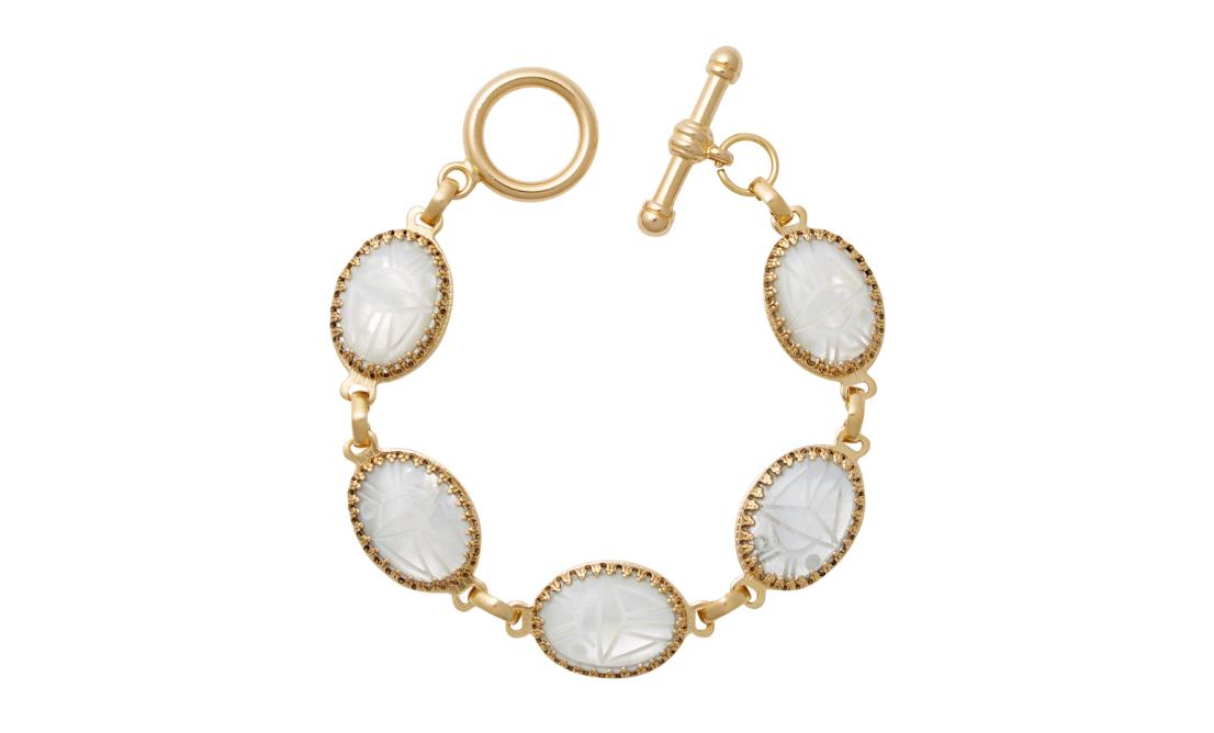 BRINKER & ELIZA  Beetlejuice 24K Gold-Plated Mother-Of-Pearl Bracelet3