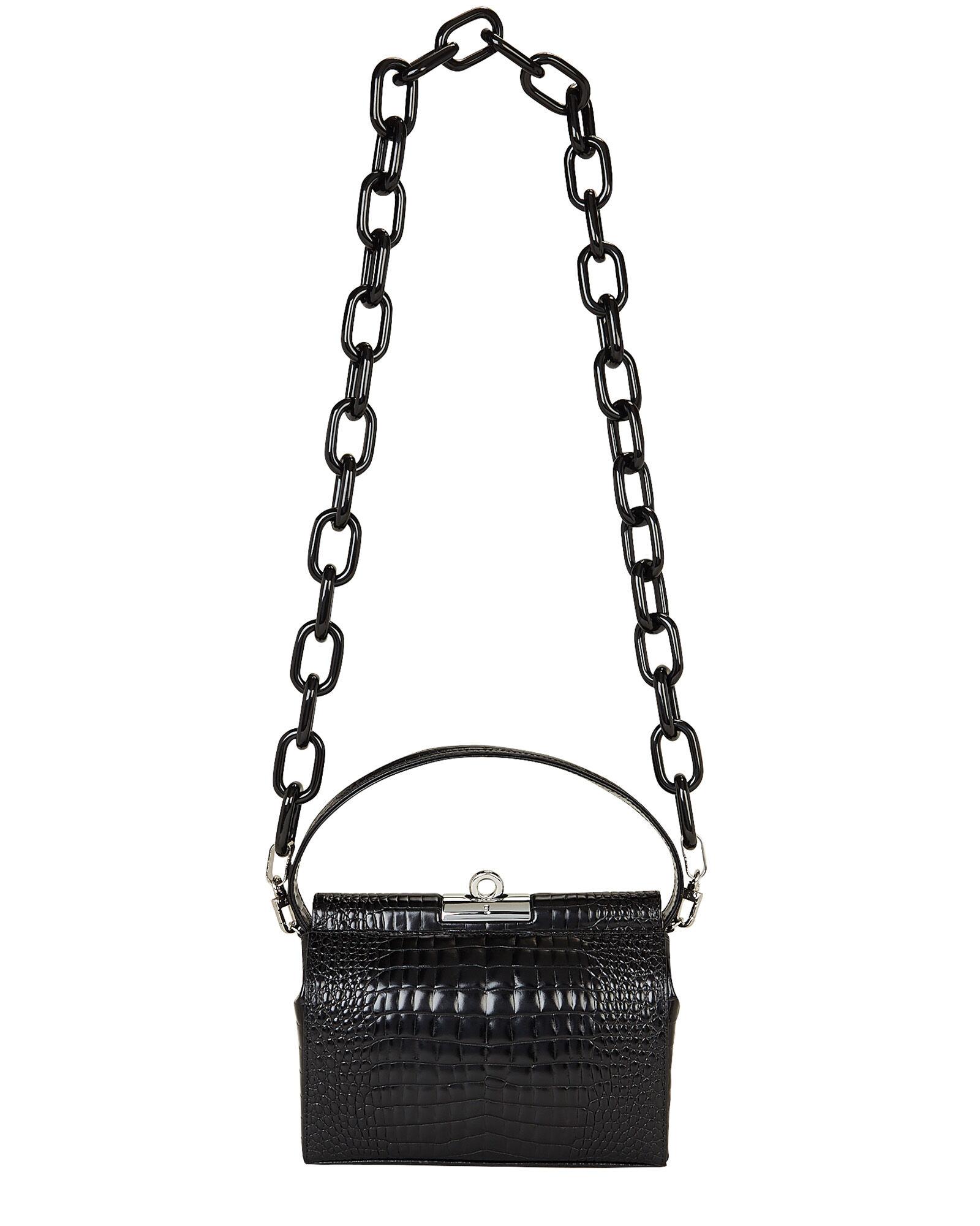 GU_DE  Milky Croc-Embossed Shoulder Bag