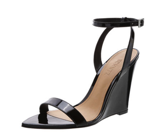 SCHUTZ  Raquel Patent Wedge Sandal Pumps