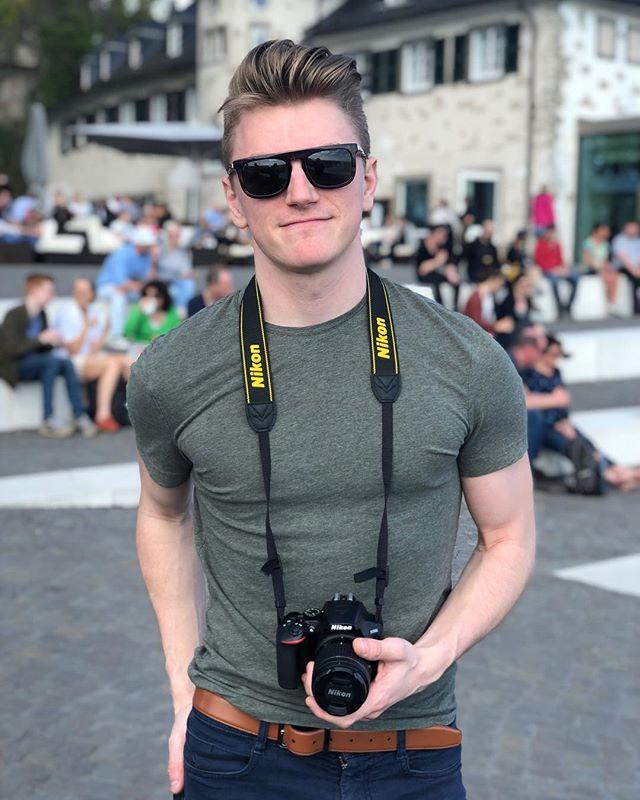 My new baby. - - @nikonusa - - - - - - - #blondeboy #twunk #camera #nikon3500 #nikon #koenigswinter #drachenfels #schlossdrachenburg