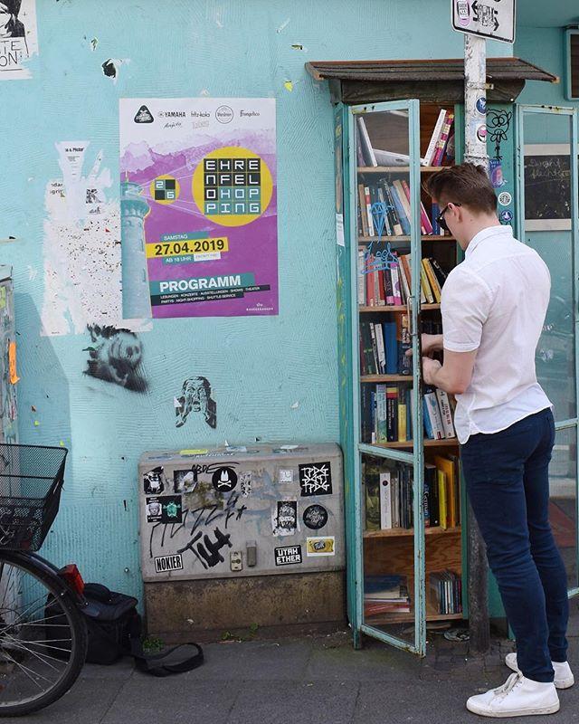 Spring in Ehrenfeld. Hidden Libraries are everywhere! - - -