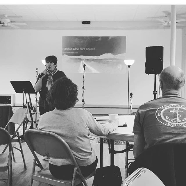 Pastor Leah Roth at Nashua Covenant Church, Nashua NH . . . . #fourmore #fourmorewomeninthepulpit #covchurch #womenpreachers #churchplant