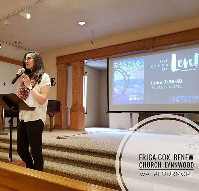 Pastor Erica Cox at Renew Covenant Church Lynnwood WA . . . . #fourmore #fourmorewomeninthepulpit #covchurch #womenpreachers #churchplant