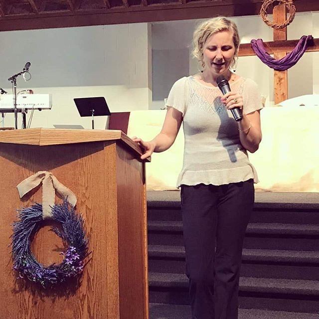 """Only love can demand a real sacrifice."" -Rachel O'Brien Halbach at Irvington Covenant Church Portland OR . . . . #fourmore #fourmorewomeninthepulpit #covchurch #womenpreachers"