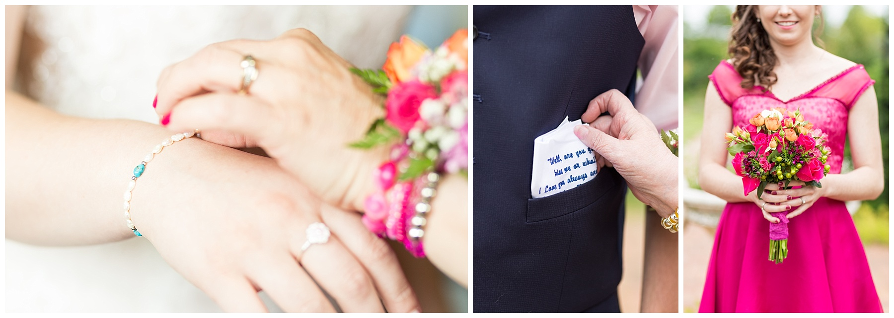 I LOVED all of Bianca's colorful details! If you have the pleasure of knowing Bianca personally, you know that these are her signature colors, so it only made sense for them to be part of her big day! A blog post for Bianca and Brandon's wedding is coming soon! Keep an eye out for it!
