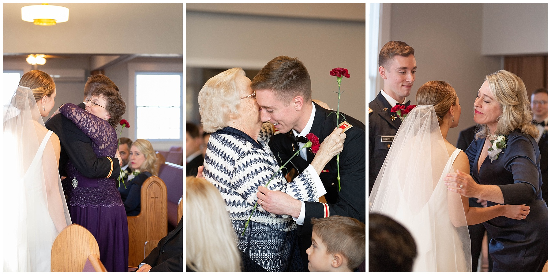 During their ceremony Nicole and Johnny gave each other's mothers and grandmothers flowers to symbolize the joining of their families