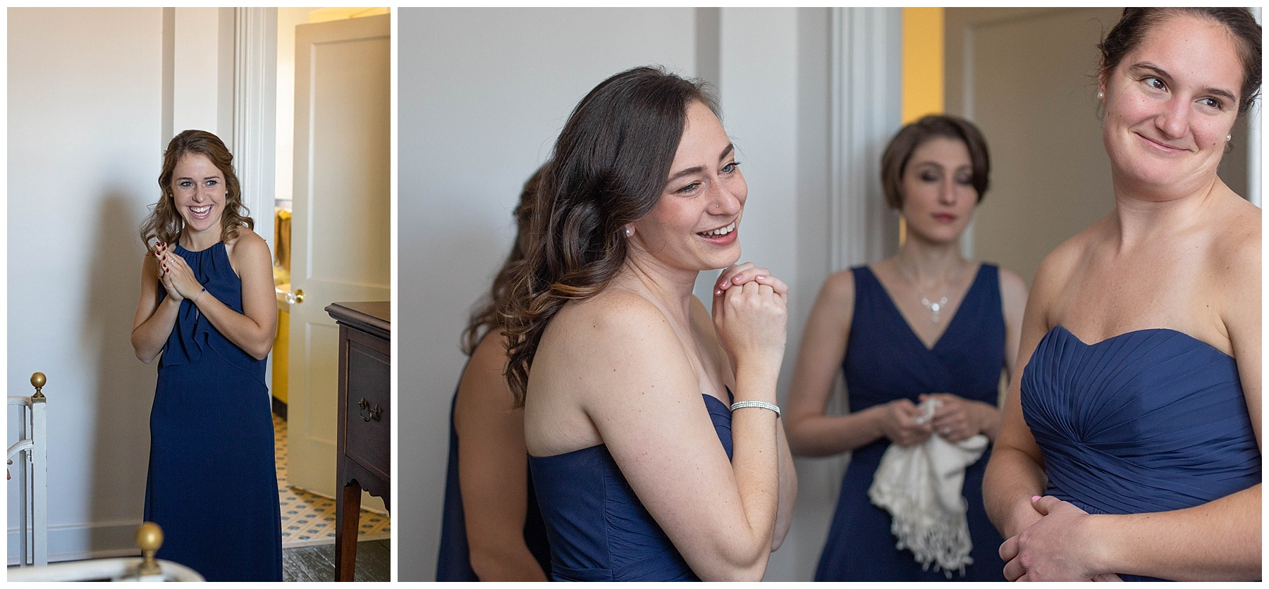 BEST REACTION EVER from Nicole's bridesmaids when they saw her all dressed up! <3