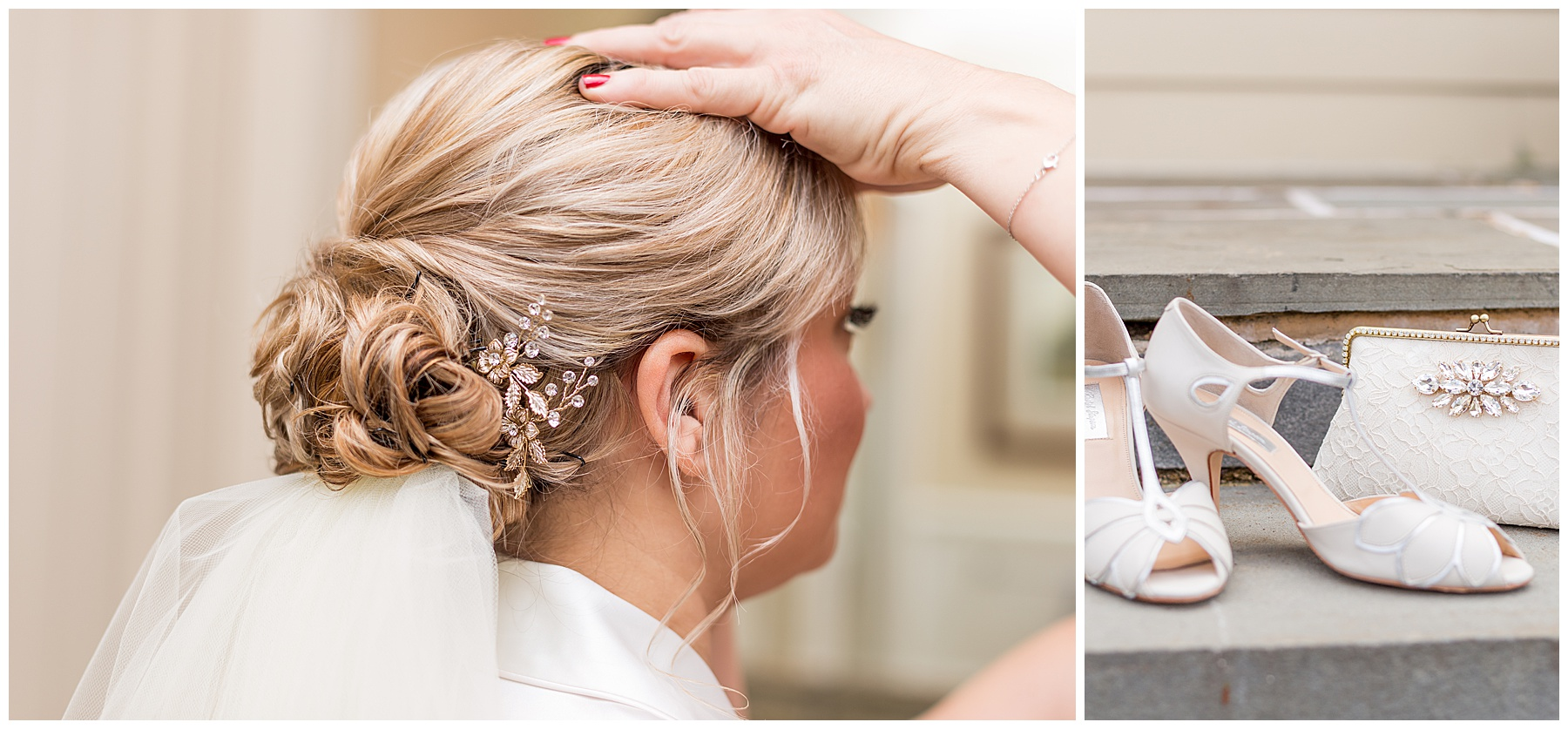 The Chocolate Spa  did an amazing job on Kerri's hair, and that hairpiece matched the rest of her accessories so well!