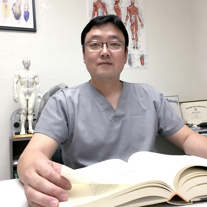 Seunghoon Lee, Ph.D., L.Ac.  - Lic.Ac., License # AC11381Intensive training on Master Tung's AcupunctureIntensive training on Sa-am Constitutional AcupuncturePh.D.O.M., American Liberty UniversityM.A.O.M., Dongguk University Los AngelesB.S. and M.A., Chemical Engineering, Kyunghee University in S.Korea