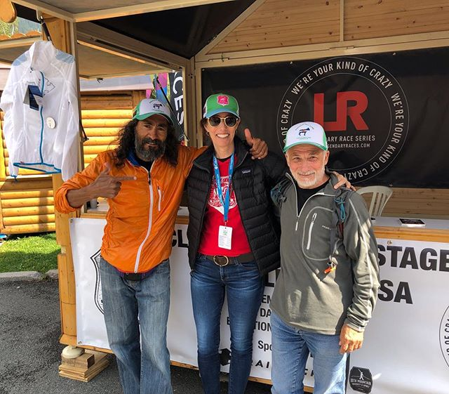 "TBT to an exciting visit to our booth in Chamonix at UTMB: Pablo Vigil, whom the CO Running Hall of FAme says ""may be the greatest mountain runner in the world"", along with Eduard Jornet, Kilian Jornet's dad and very accomplished Mountain guide himself! .  They stopped by after seeing our hat on someone and wanted a couple for themselves. You know you've designed a good hat when that happens! .  #tbt #utmb #chamonix #legendaryraces #cloudcitymultistage #ultrarunning #ultra #colorado #coolhat #elite #mountainrunning #halloffame"