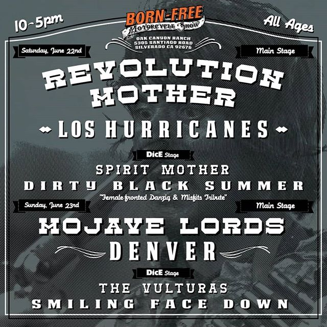 @bornfreeshow @dicemagazine don't miss our matinee set at 130 tomorrow on the Dice Stage at Bornfree!!