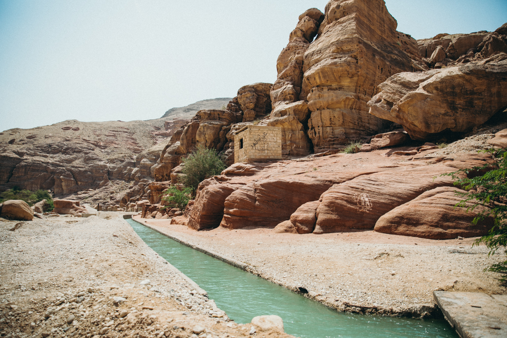 The canal turned into a small river that ran throughout the whole canyon. It was crazy hot out, so it was nice being able to walk in the water the whole way!