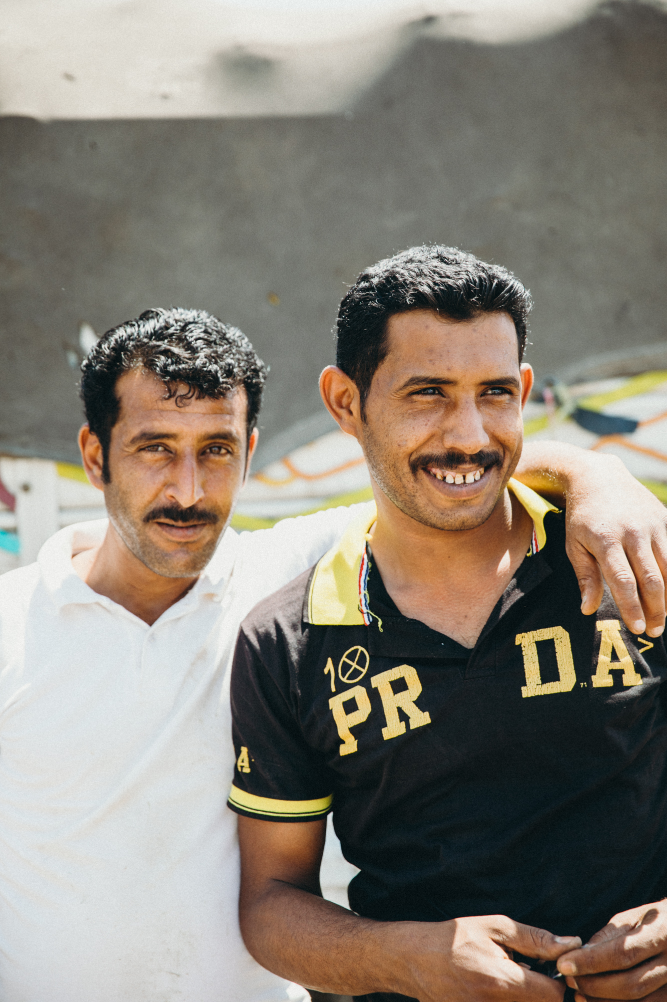 These men were all hanging around the fruit stand doing their jobs! They loved taking photos with us!