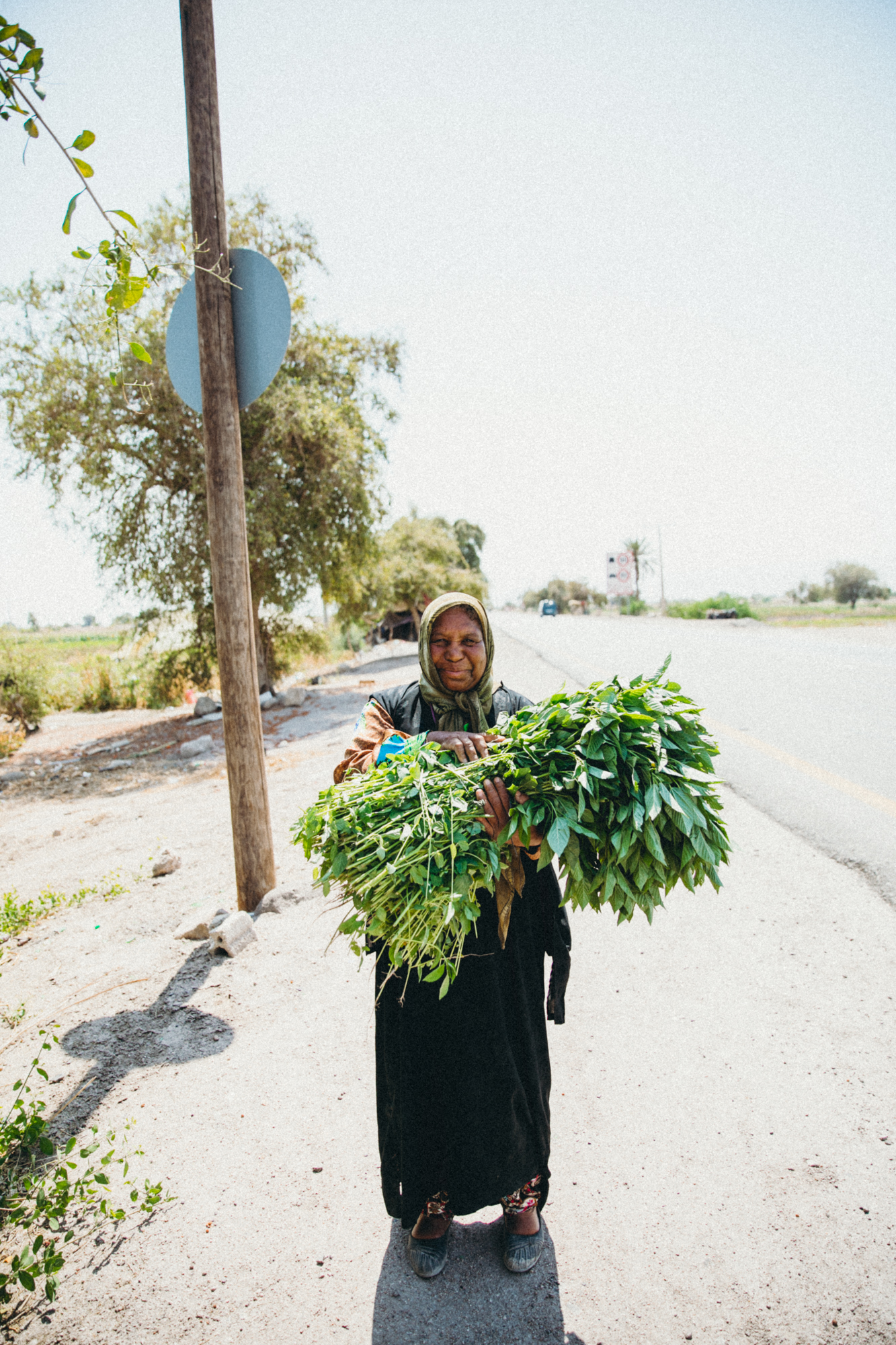 A Bedouin woman on the road stopped and told us her story for a bit. She is a widow, had a stroke a few months back, and has no money.