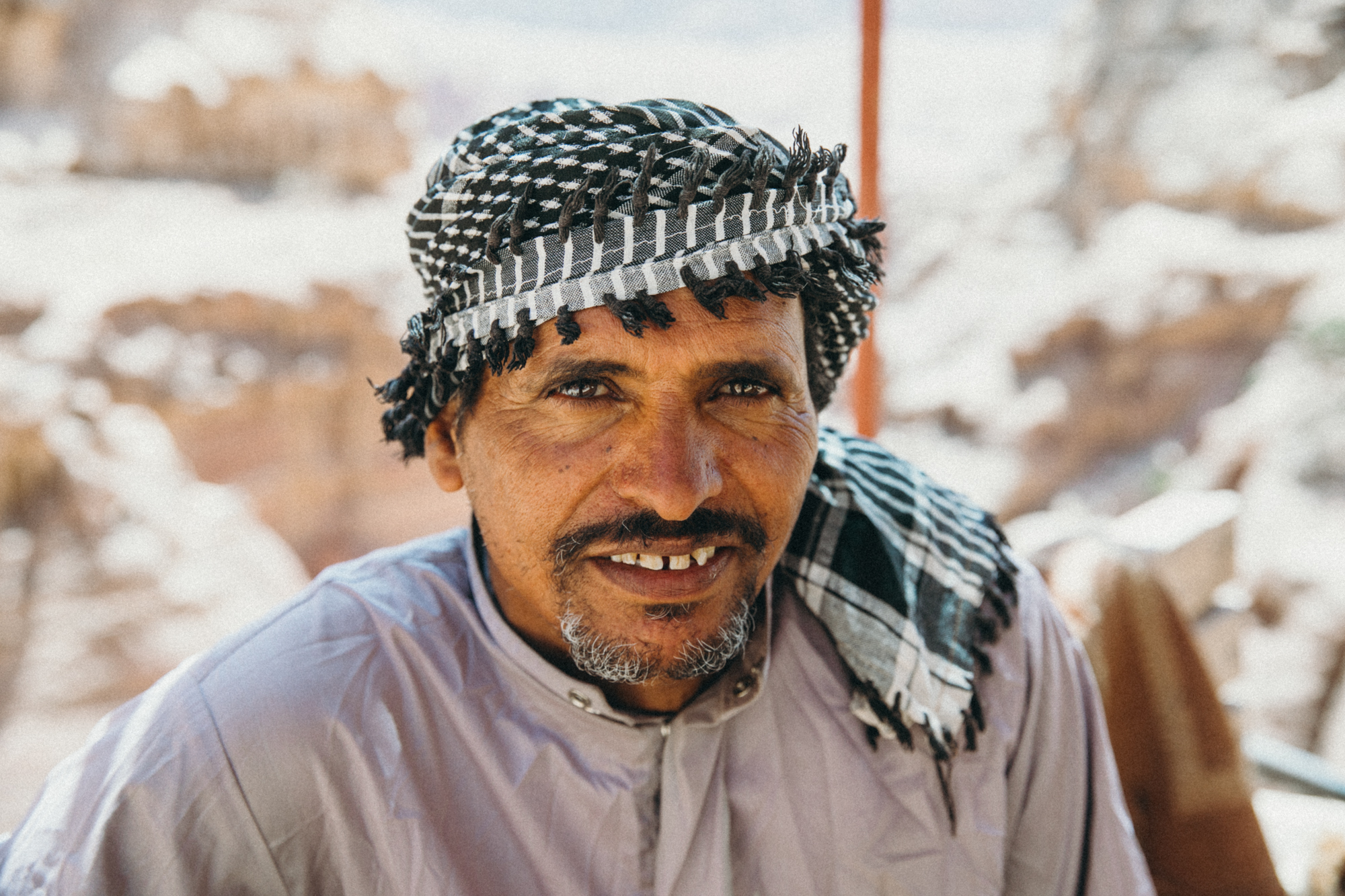 So many friendly faces everywhere. Everyone in Petra speaks pretty good English, so it was easy to make connections.
