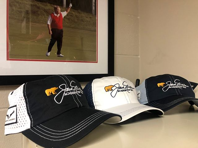 New hats arrived today!  We think Jack would approve! ⛳👍 www.nicklausacademyorlando.com