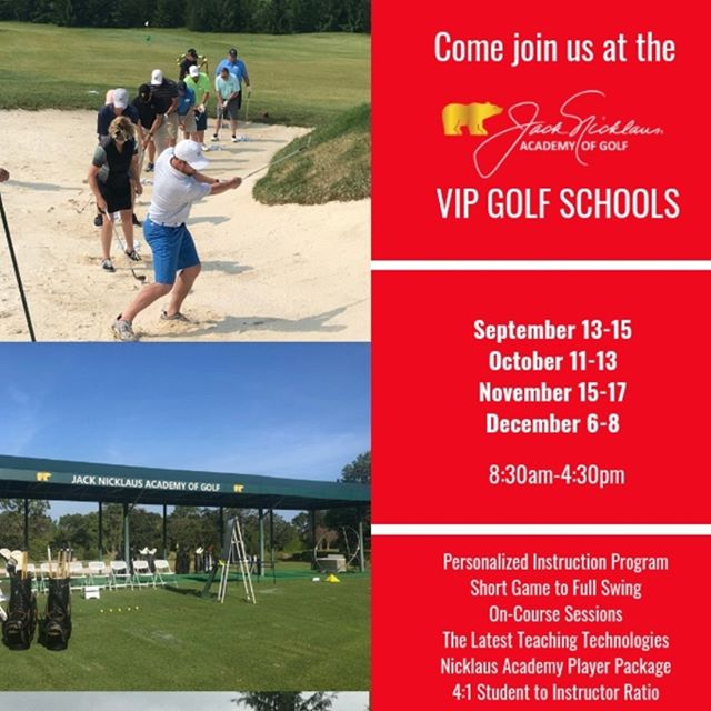 Our VIP Golf Schools are what everyone is talking about.  Personalized Instruction just for you, Short Game to Full Swing, On Course Instruction, Latest Technology and the BEST Instructors!  If you are looking to really improve your game this Golf Season, this is the way to go!  Give us a call to reserve your dates.