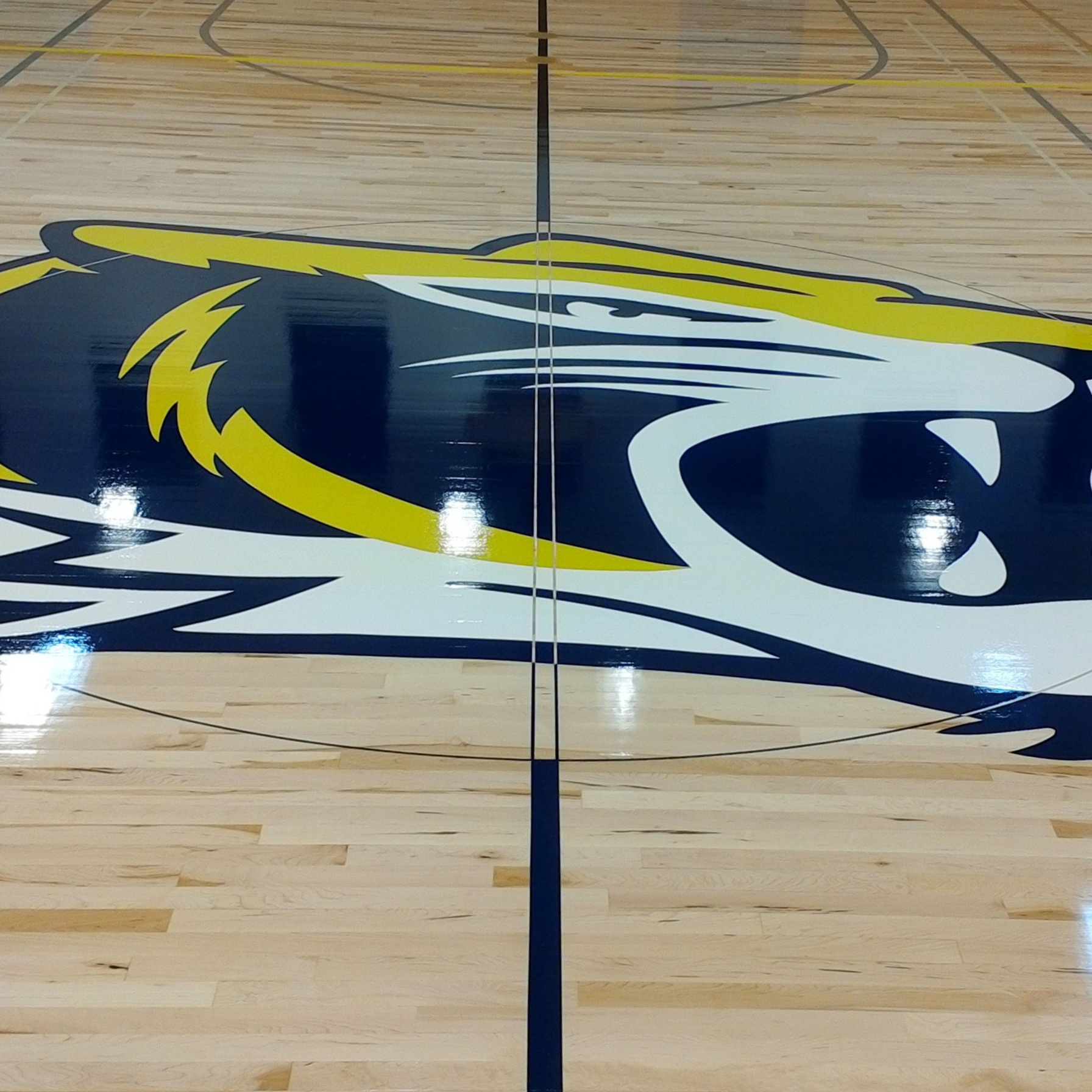 Inderkum High School - Interior Basketball Court