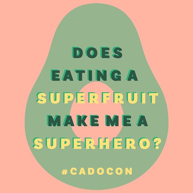 It Hass to be true.  Avocados have nearly 20 vitamins and minerals, which makes them a #superfood. And isn't health a superpower?  Come experience the making of California's favorite superfruit at The CADO. Link to tix in bio.  #CADOCON ✌🏽💛🥑
