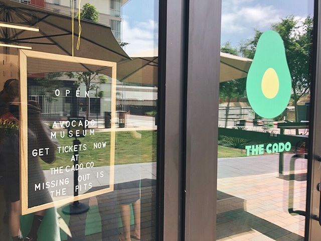 Welcome to The CADO!  Over the course of six interactive, educational and 'grammable rooms, you'll find there is more to 🥑 than meets the eye.  You're invited to walk inside of a pixelated avocado, listen to Jason Mraz school you on growing avocados in CA (via cassette tape/walkman), meet the Mamma Hass tree and leave with ideas for sustainability to ensure we have 🥑 for generations to come.  Get 🎟Tickets 🎟 Online (link in bio). Hours of operation: Thurs: 10-730 Fri-Sat: 10-9 Sun: 10-6 .📍: @northcitysanmarcos  BONUS: We have AC. ✌🏽💛🥑