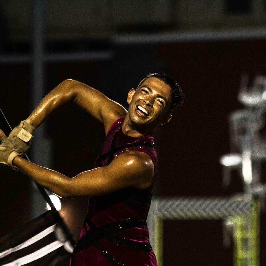 JAKE MONTANARO  has been a Color Guard performer since 2012 when he joined the Floral Park Memorial High School Marching Band. Since then he has gone on to compete in Winter Guard International with Emanon A and Open class guards, Drum Corps Associates with The Cadets2 in open class, and has spent the rest of his time in Drum Corps International World Class with The Cadets where he is currently the captain of the Color Guard. During the day, Jake is a student at Montclair State university where he is studying for his BFA in dance performance.