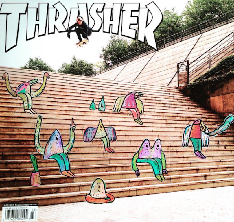 Lucas-Beaufort-Elna-Thrasher-2016-Acrylic-on-original-magazine-A3-international.jpg