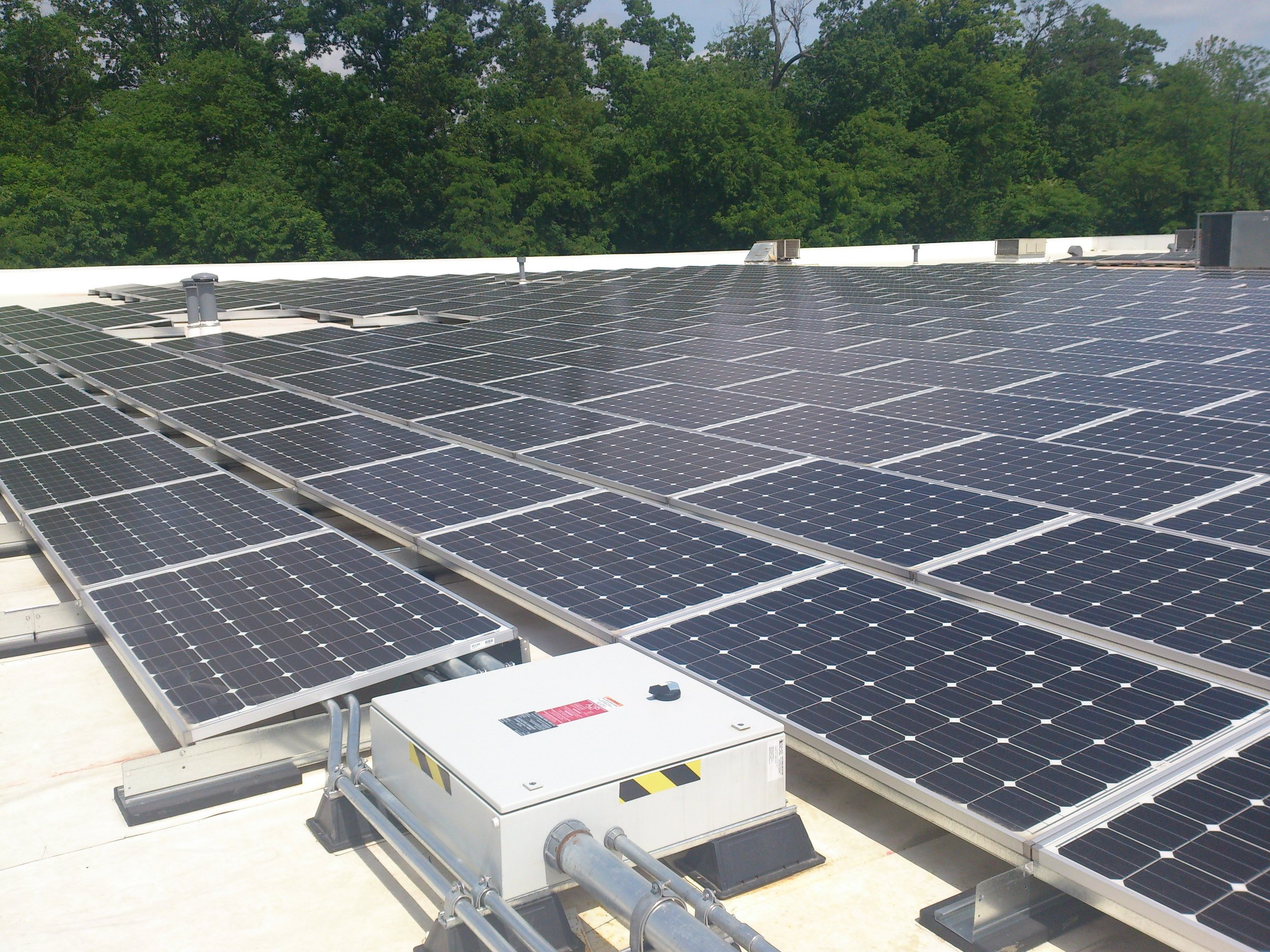 Roof Mounted Solar - ANTARES has assisted Dominion Energy install rooftop and ground-mounted solar across Virginia and the Carolinas