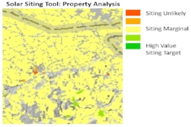 Solar Siting Analysis - Developed proprietary model for project siting incorporating economic analysis and GIS