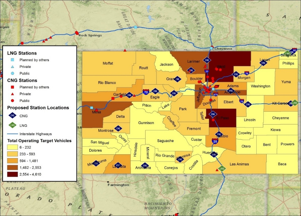 CNG Deployment Strategy - ANTARES assisted Colorado evaluate CNG infrastructure deployment strategies