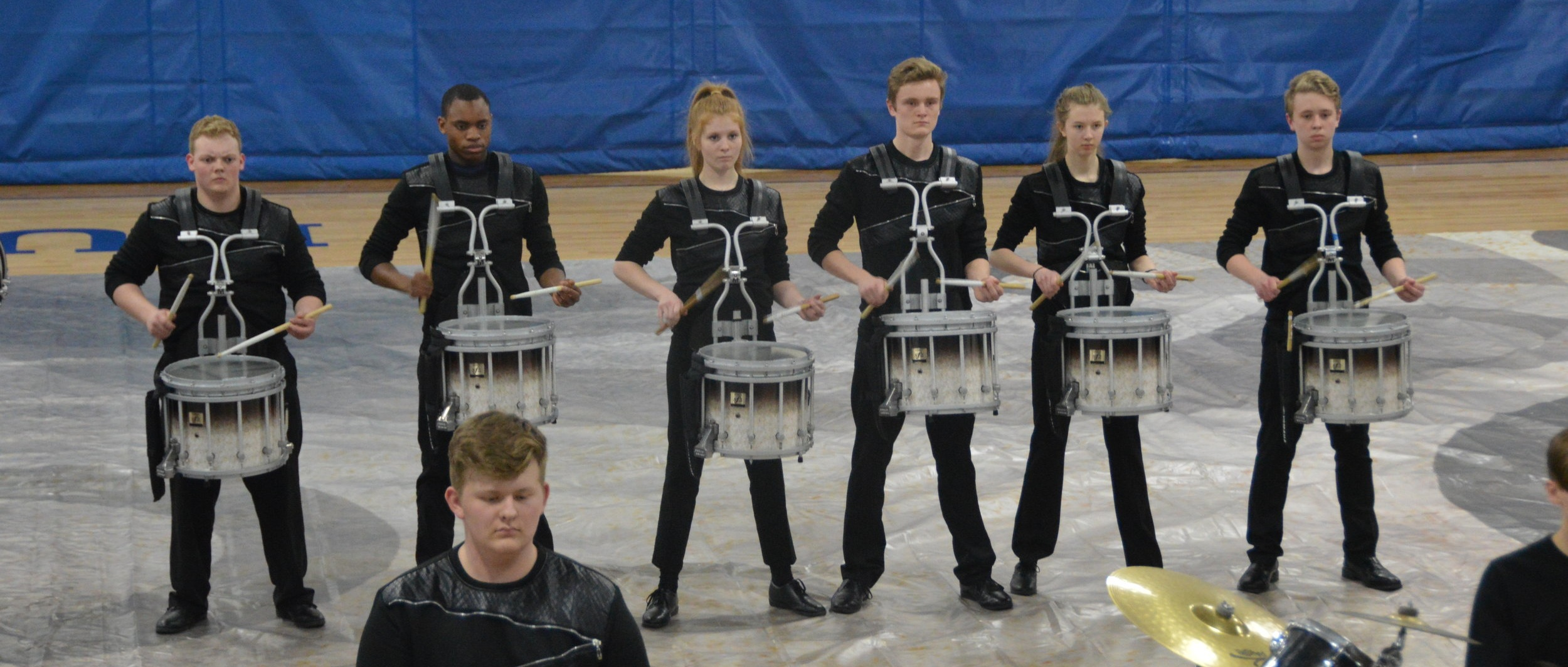 The Owatonna Winter Drumline begins rehearsing in late fall.