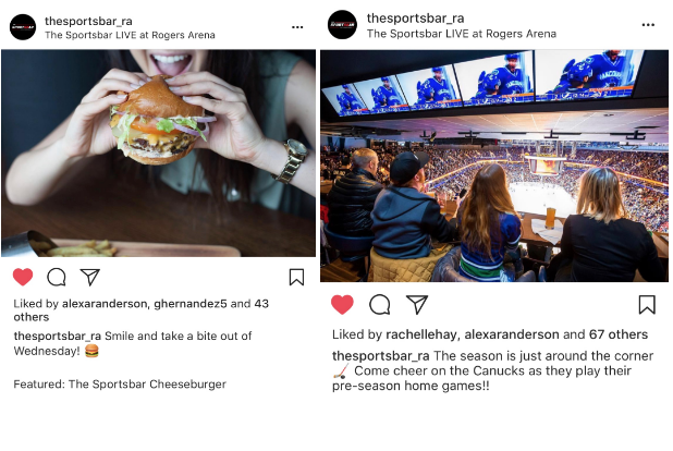 SOCIAL MEDIA MANAGEMENT FOR: The Sportsbar L!ve at Rogers Arena    @thesportsbar_ra