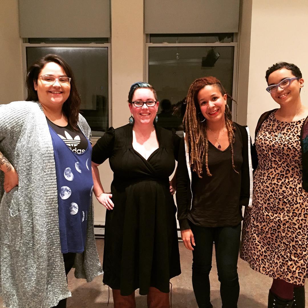 - Lindsay Nixon, Chelsea Vowel, Robyn Maynard, & Sasha Simmons at our community conversation on Black & Indigenous solidarity, February 19, 2018.