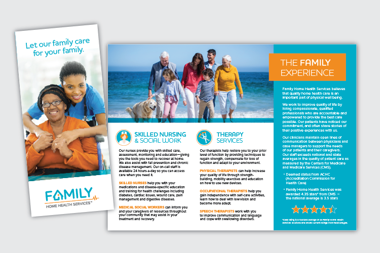 Family Home Health Marketing Graphic Design