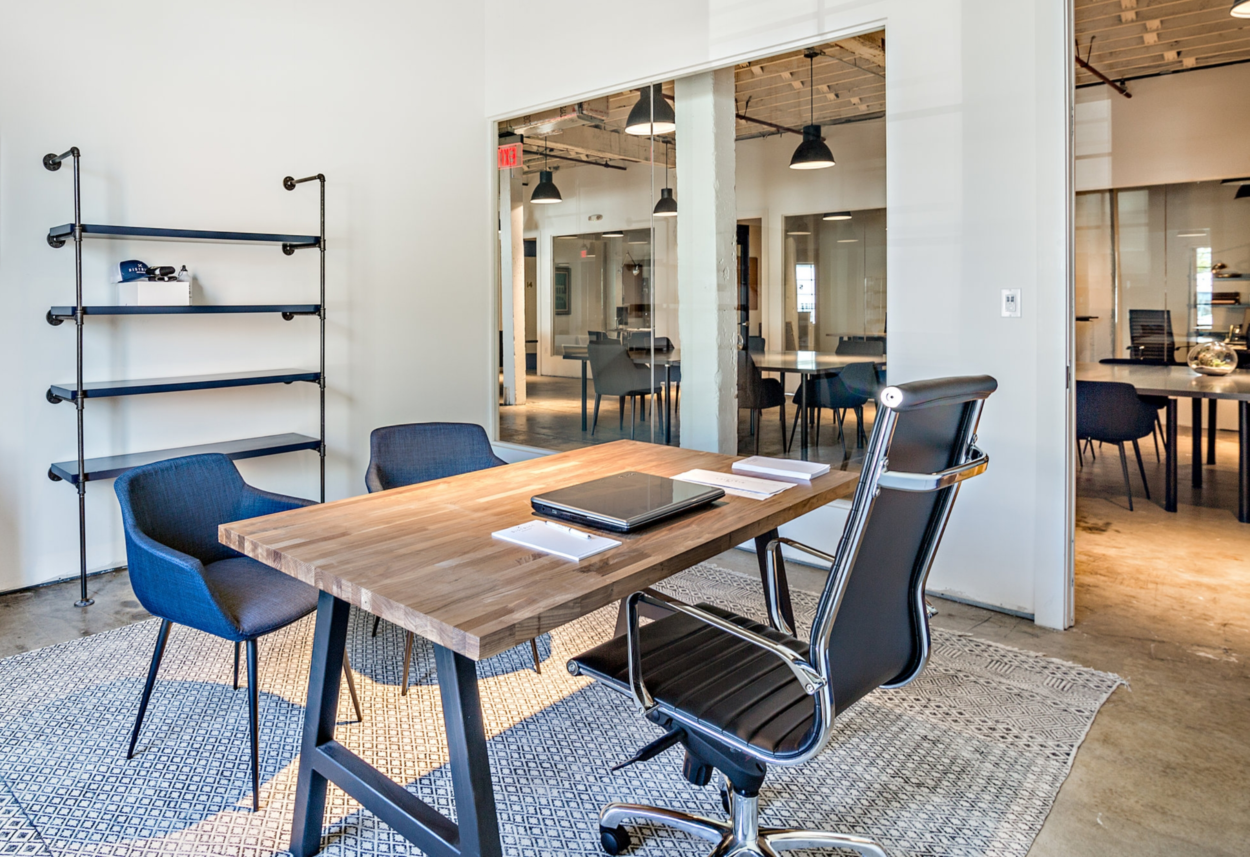 STARTING AT $1600/MONTHPrivate Office - Great for individuals or teams of 2-3 people. Each lockable space comes furnished and is fully-customizable. These offices provide the privacy desired to run your business and the bonus of a healthy work atmosphere.