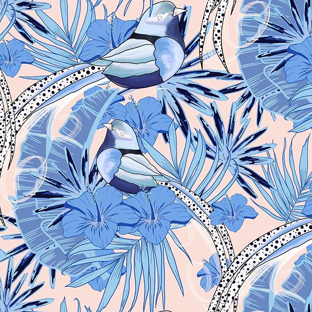 I was so thrilled earlier this week when @surfacespatterns kindly shared my textile design on their feed - although in the autumn colour way! . A little happy dance was had! That's for sure 💕 thanks at @surfacespatterns for making my week! . . . . . . . #surfacepatterndesign #surfacepattern  #brisbaneartist #floralsyourway #mycreativebiz #smallbiz #watercolourvideo #crafters #watercolour #tropical #monstera #florals #create365 #watercolourflorals  #illustration_now #handpainted #eatsleepcreate #smallbusinessbrisbane #tropicalbirds #ipaddrawing #illustragram #illustratorsoninstagram #surfacepatterndesigner #tropicalart #tropicalartist #thedairy