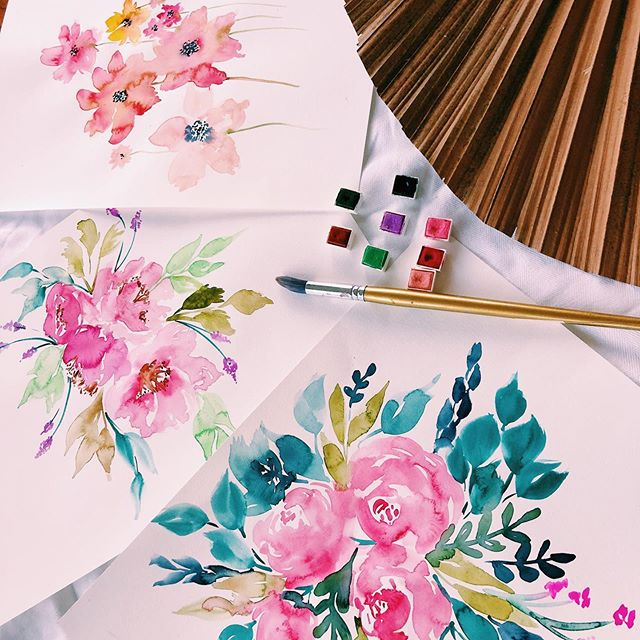 Getting back to my watercolours!  I have a sneaky project up my sleeve that I'm currently researching and meeting with someone special about this week to see if can become a reality! If it works out I'm really hoping to use these designs ☺️💕 I'll be sure to keep you all posted! . . . . . .  #brisbaneartist #brisbaneevents #mycreativebiz #smallbiz #craftworkshop #crafters #watercolour #spreadtheword #tropical #privateworkshop #florals #create365 #watercolourflorals  #brisbanecity #brisbaneanyday #girlsdayout #eatsleepcreate #birthdaypartyideas #arty #watercolourartist #watercolourdaily #illustratorsoninstagram .