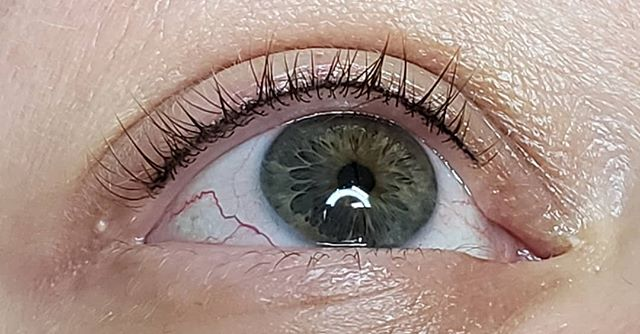 """Beautiful healed lash enhancement!  This is a """"baby"""" eyeliner done low on the lid, in the lashline only to darken and define. 😍 ___________________________________ #pmupnw  #pmu #combobrows #microbladingportland  #microbladingvancouver  #microblading  #permanentmakeup"""