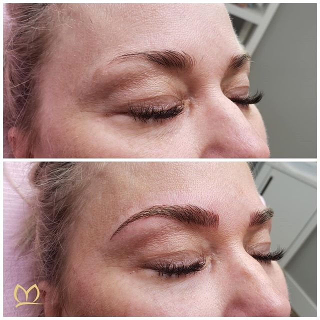 These brows had a good start but like so many of she was missing her tail so they were falling short of the ideal shape. I think we fixed that! 🐈  Combo brow technique to lengthen and define.  Swipe to see more views 👉  #microbladingpnw  #microblading #combobrows #pmu #smpu #microbladingportland #microbladingvancouver #microbladedbrows #eyebrowmicroblading #micropigmentation #permanentmakeup #semipermanentmakeup #cosmetictattoo #browtattoo #tattoo #lipblush #liptattoo #lashlineenhancement #eyelashenhancement #lashenhancement