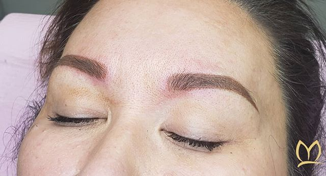 It was an annual refresh for this lovely lady! We swtiched it up and instead of microblading we went for the powdered shaded look. We kept color soft but still defined her shape. I think it was the right choice! ✔ 👉 Swipe to see how cute she is in her 👒