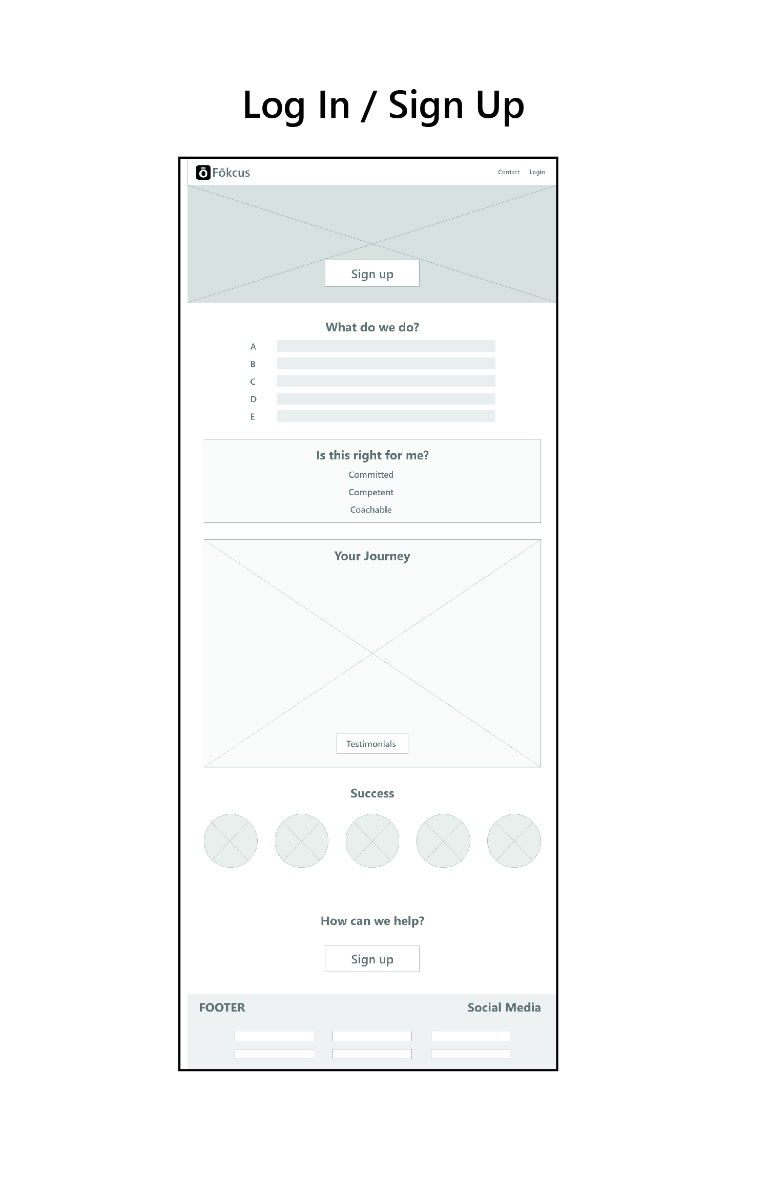 Low Fi Wireframes - We kept much of the original wireframe content and added or enhanced most features.