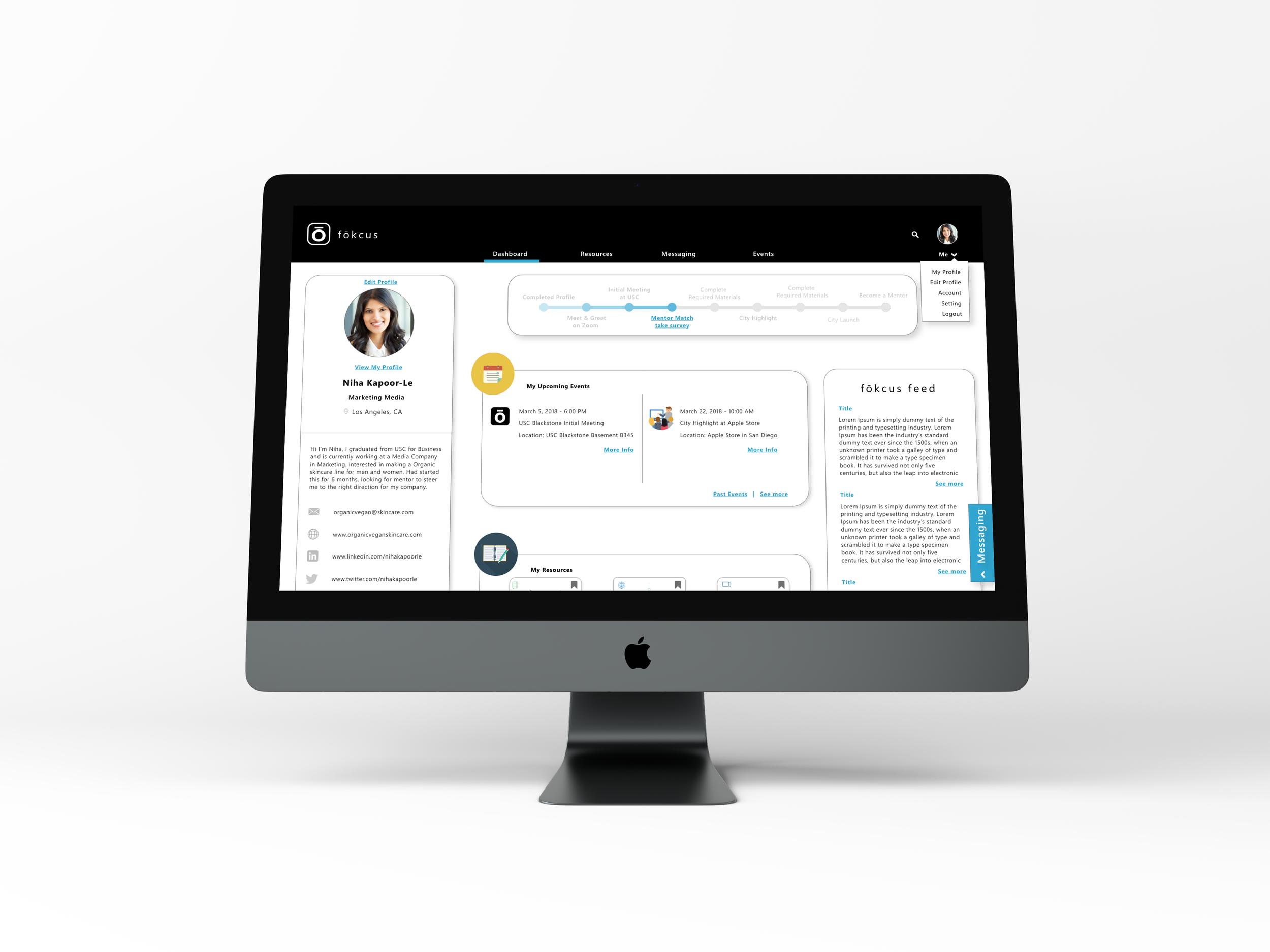 Fokcus - Web App Redesign & Service Design