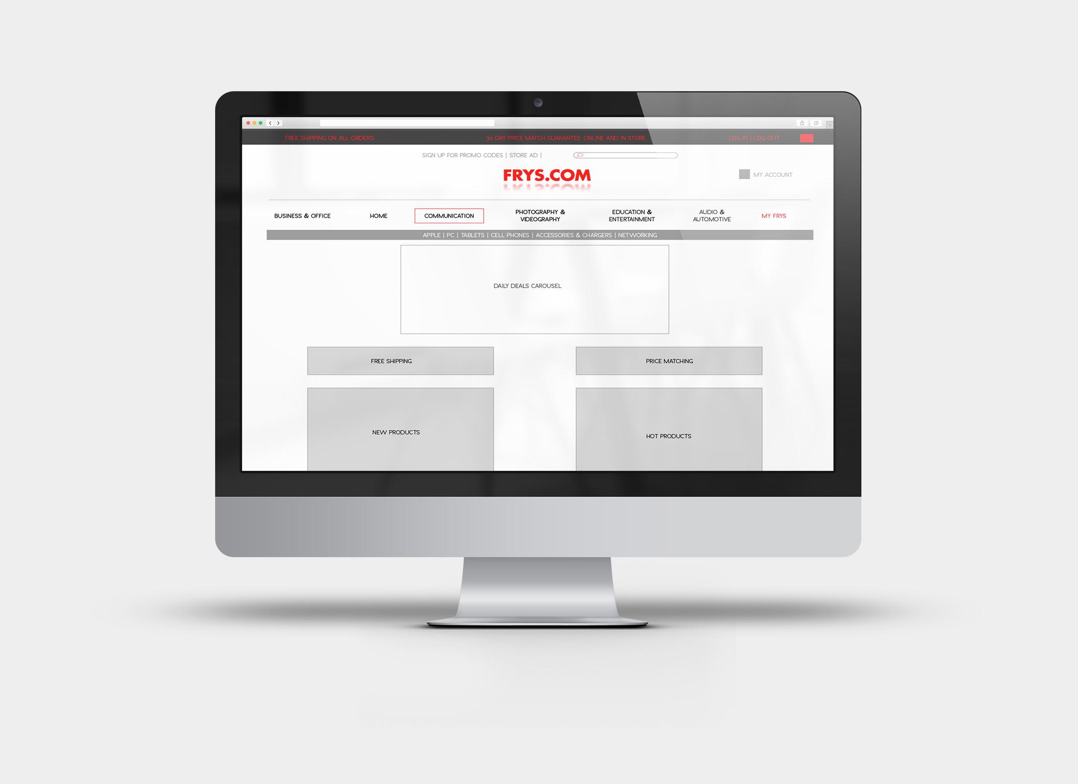 Frys.com - Speculative e-commerce checkout redesign
