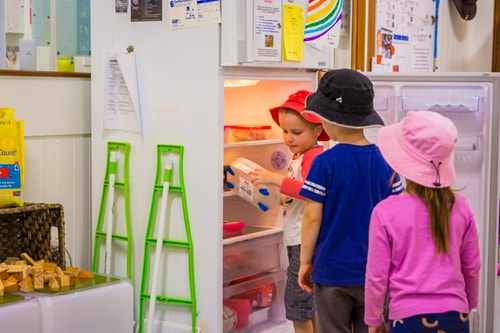 Chiselhurst children getting lunch out of the fridge with independence